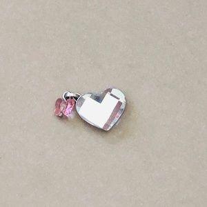 Swarovski Heart and Butterfly Pendant